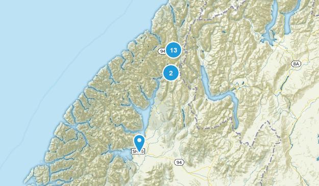 Fiordland National Park Hiking Map