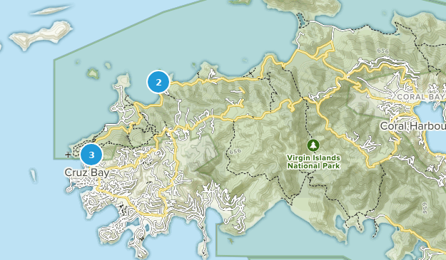 Virgin Islands National Park Nature Trips Map