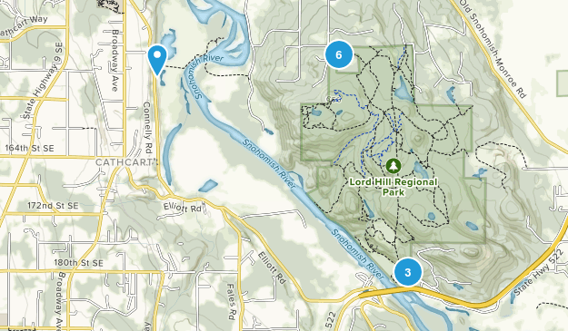 Lord Hill Regional Park Nature Trips Map