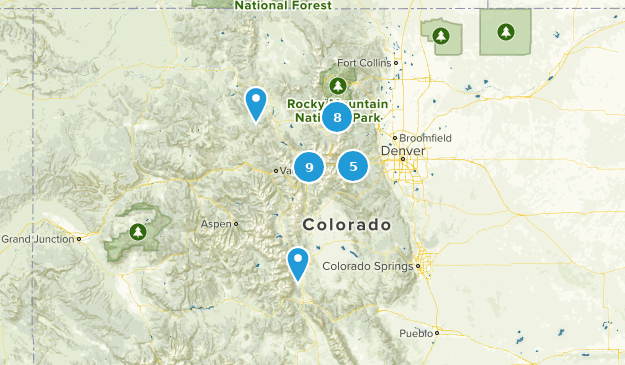 Arapaho National Forest Camping Map