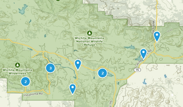 Mountains In Oklahoma Map.Best Kid Friendly Trails In Wichita Mountains National Wildlife