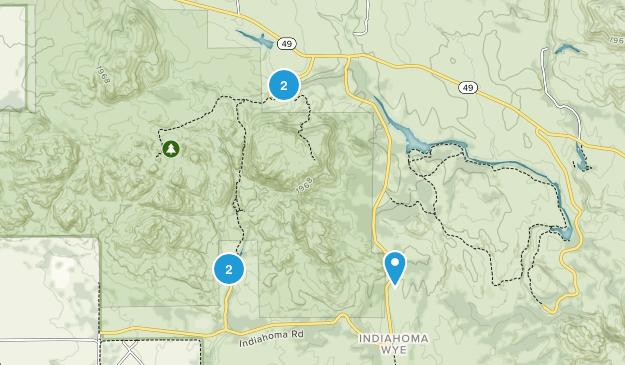 Charons Garden Wilderness Hiking Map