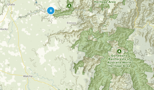 Oxley Wild Rivers National Park Nature Trips Map
