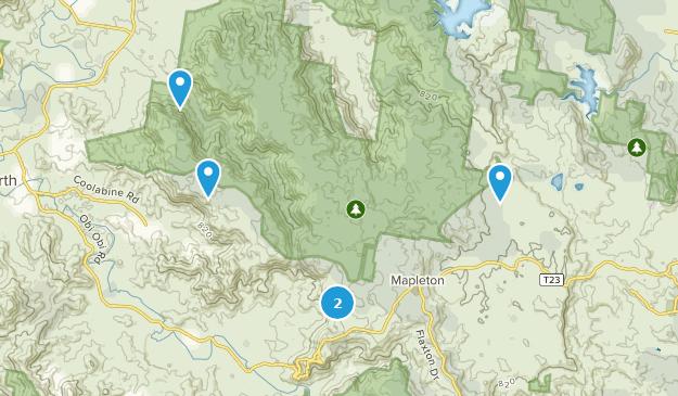 Mapleton Falls National Park Nature Trips Map