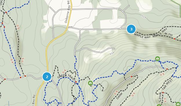 Osborne Bay Park Hiking Map