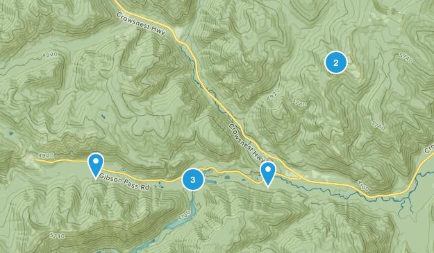 E.C. Manning Provincial Park Hiking Map
