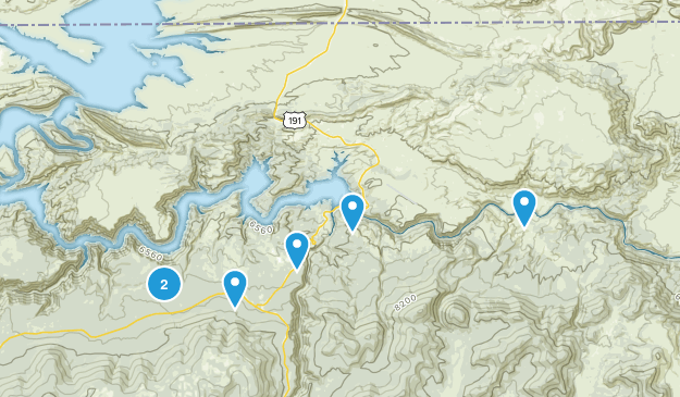 Flaming Gorge National Recretion Area Hiking Map