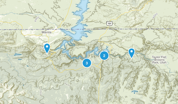 Flaming Gorge National Recretion Area Nature Trips Map