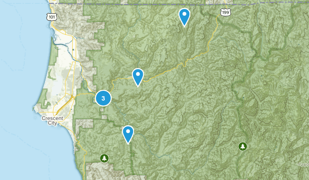 Smith River National Recreation Area Hiking Map