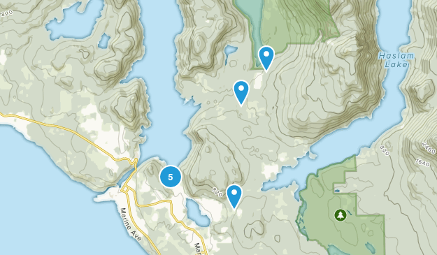 Inland Lake Provincial Park Hiking Map
