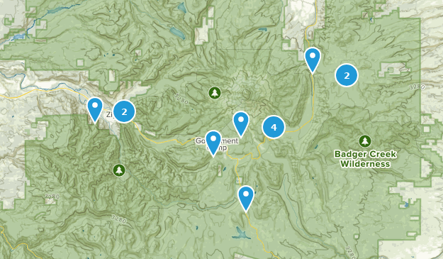 Mount Hood Wilderness Birding Map