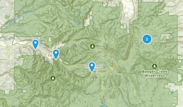 Mount Hood Wilderness Mountain Biking Map