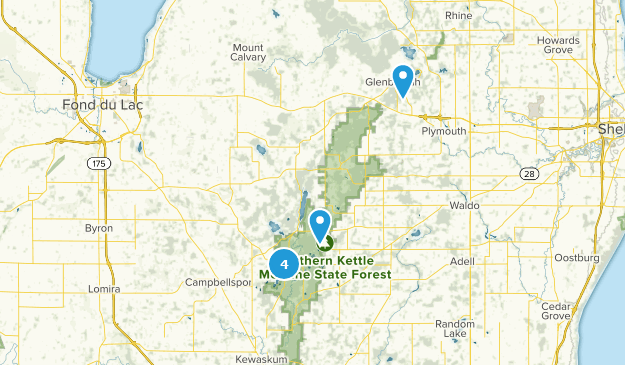 Kettle Moraine State Forest Northern Unit Hiking Map