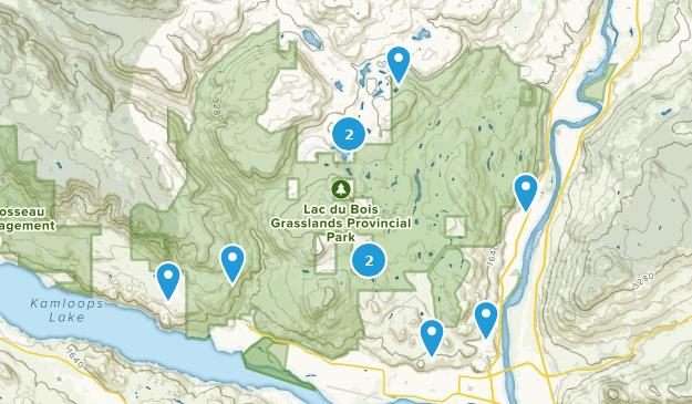 Parc provincial Lac Du Bois Grasslands Bird Watching Map