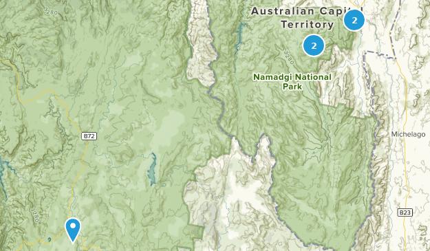 Namadgi National Park Hiking Map