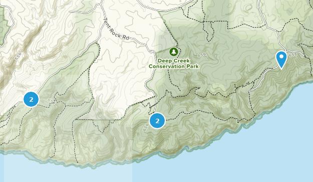 Deep Creek Conservation Park Nature Trips Map
