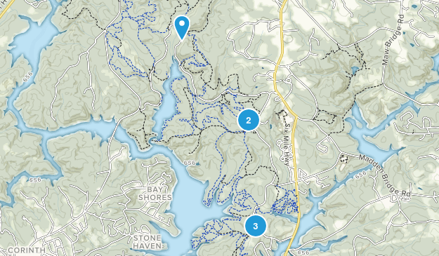 Clemson Experimental Forest Hiking Map
