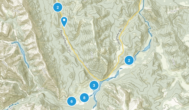 Little Elbow Provincial Recreation Area Hiking Map