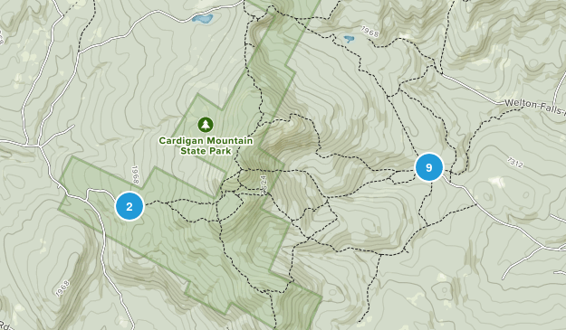 Cardigan Mountain State Park Nature Trips Map