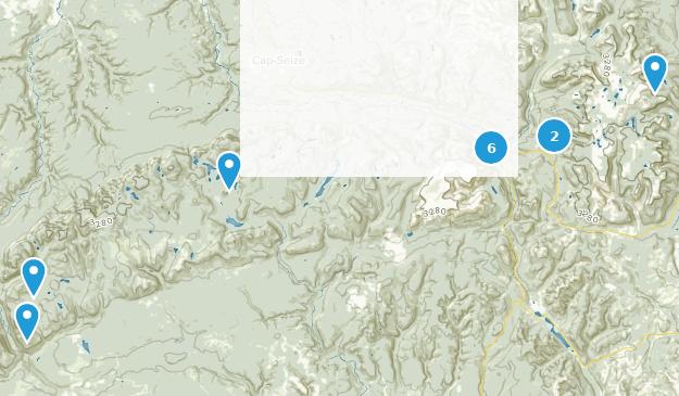 Parc National de la Gaspésie Hiking Map