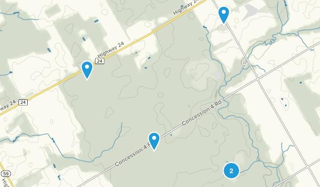 Backus Woods Snowshoeing Map