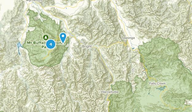Mt Buffalo National Park Hiking Map