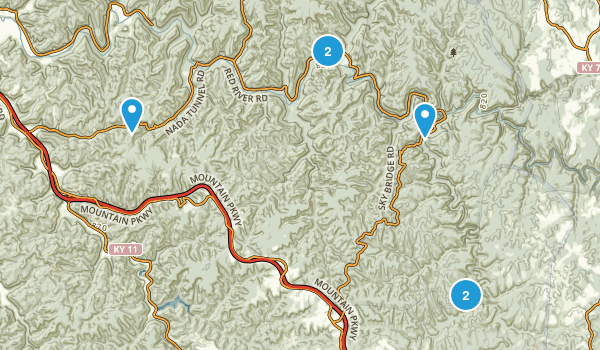Best Views Trails In Red River Gorge Geological AreaClifty - Red river map us