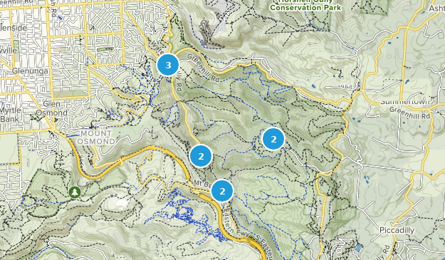Parc de conservation de Cleland Hiking Map