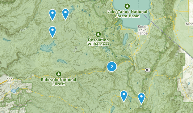 El Dorado National Forest Snowshoeing Map