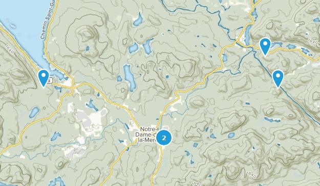 Parc Regional de la Foret  Hiking Map