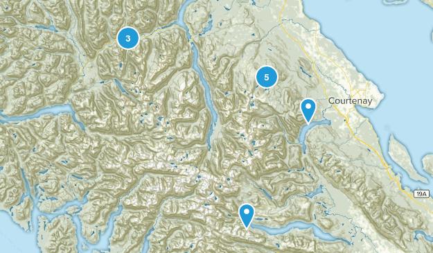 Strathcona Provincial Park Hiking Map