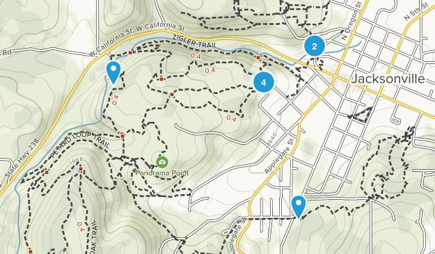 The Jacksonville Woodlands Trails Hiking Map