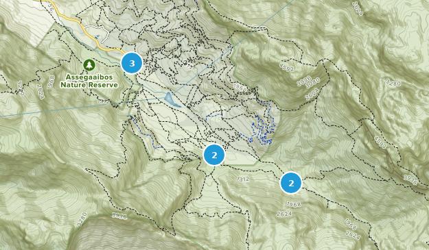 Jonkershoek Nature Reserve Nature Trips Map