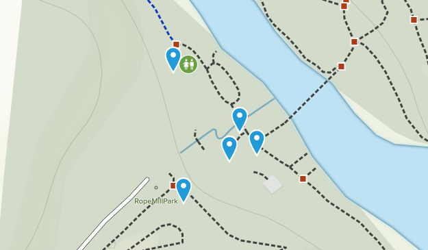Olde Rope Mill Park Hiking Map