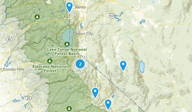 Forêt nationale de Humboldt-Toiyabe Bird Watching Map