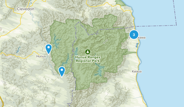 Hunua Ranges Nature Trips Map