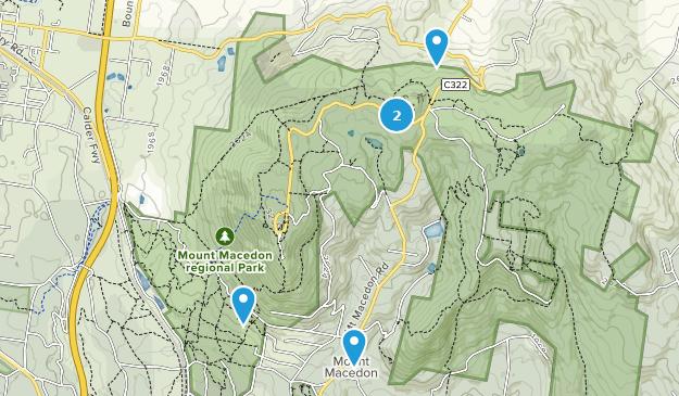 Mount Macedon Regional Park Nature Trips Map