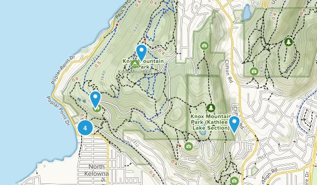 Knox Mountain Park Mountain Biking Map