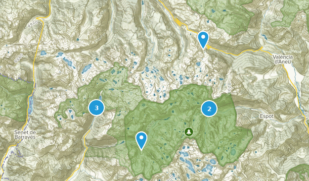Parc Nacional d'Aiguestortes Hiking Map