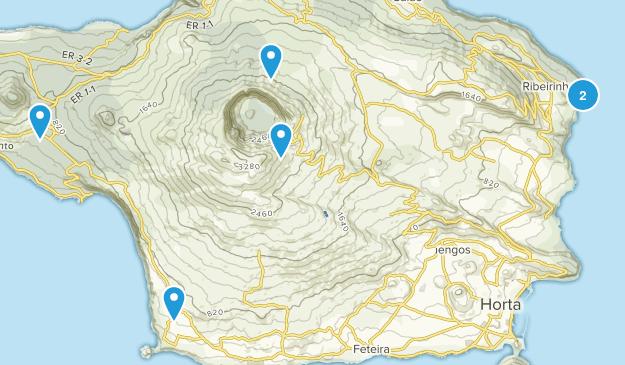 Reserva Natural da Caldeira do Faial Nature Trips Map