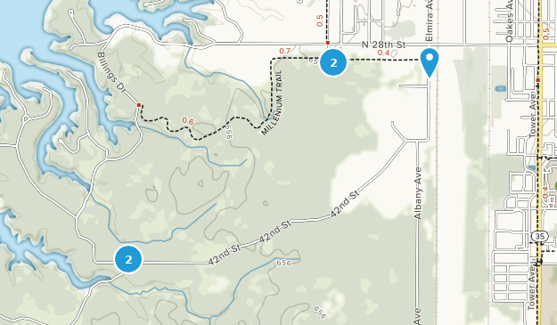 Superior Municipal Forest Nature Trips Map