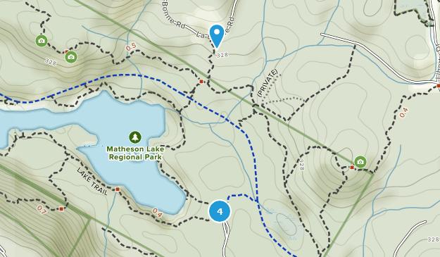 Matheson Lake Regional Park Birding Map