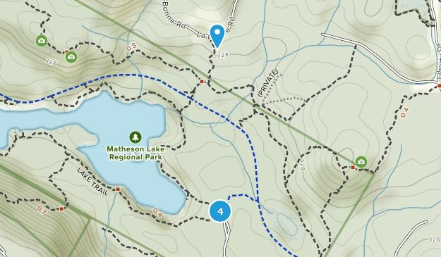 Matheson Lake Regional Park Nature Trips Map