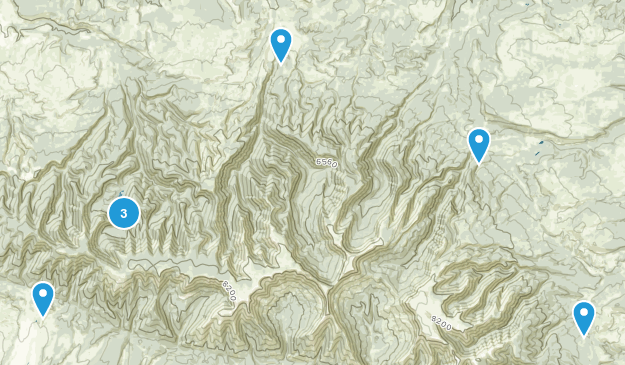 Big Snowy Mountains Wilderness Study Area Hiking Map