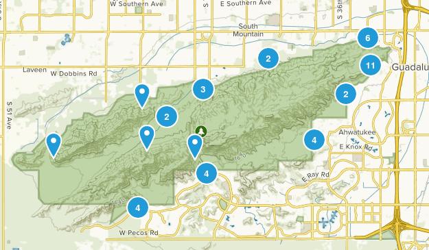 South Mountain Preserve Birding Map