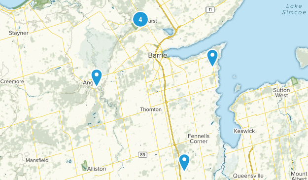 Simcoe County Forest Snowshoeing Map