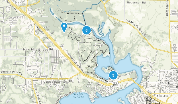 Fort Worth Nature Center Nature Trips Map