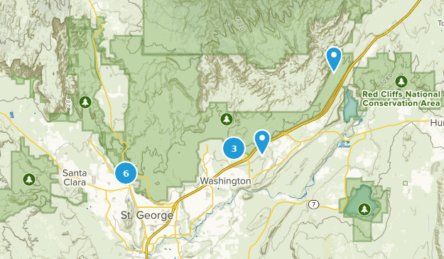 Red Cliffs National Conservation Area Trail Running Map