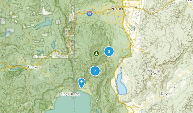 Mount Rose Wilderness Birding Map