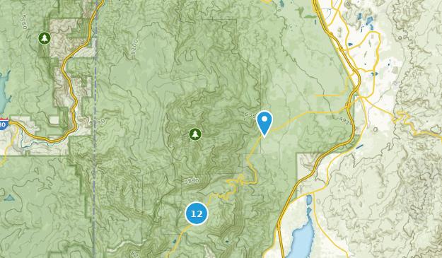 Mount Rose Wilderness Snowshoeing Map